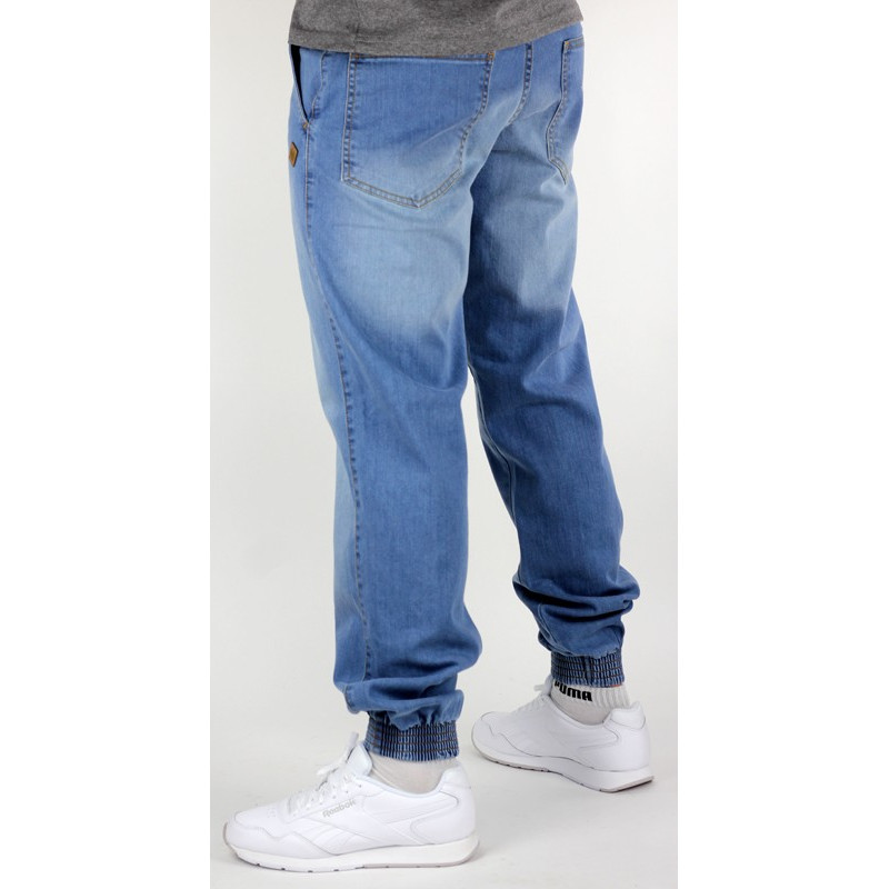 37be842a727c2 Spodnie jogger classic jeans - light blue - RapTown